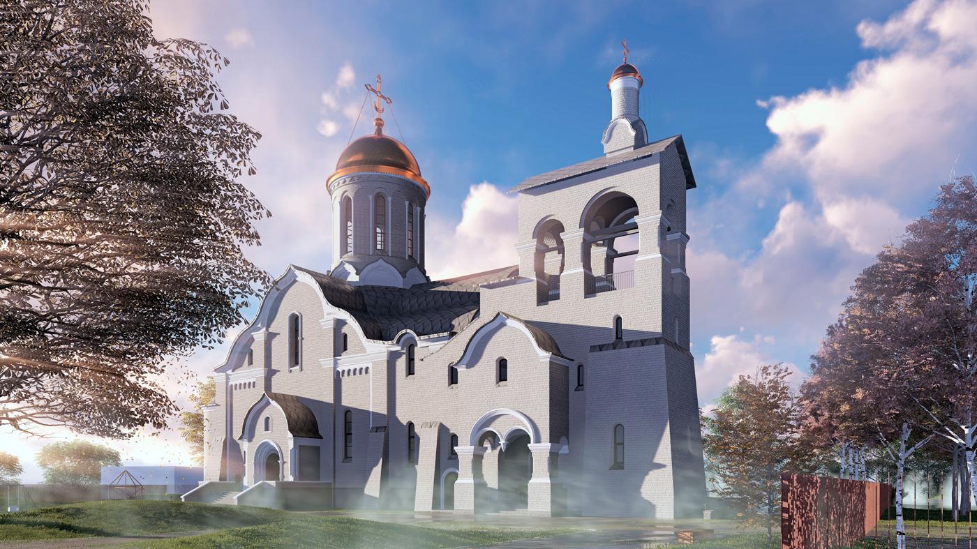 Храм св. ап. Андрея Первозванного в Люблино