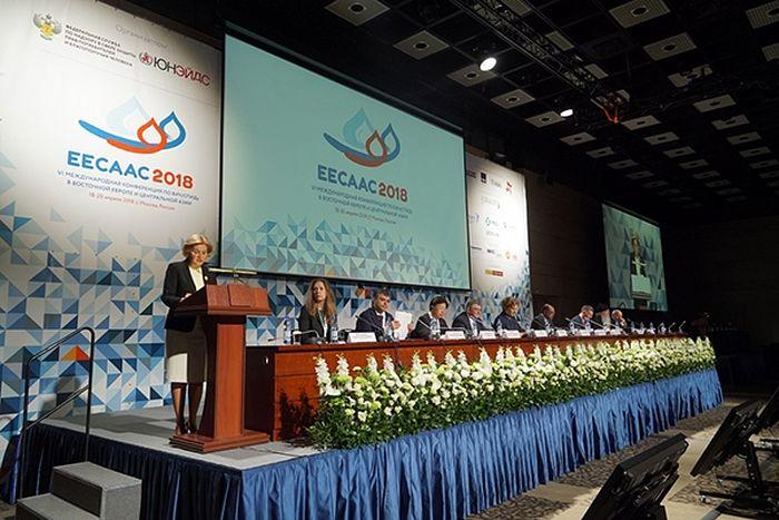 Конференция началась с выступления заместителя председателя правительства Российской Федерации Ольги Голодец