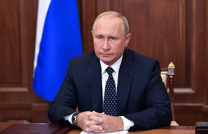 Владимир Путин во время телеобращения. Фото: пресс-служба президента РФ/ТАСС