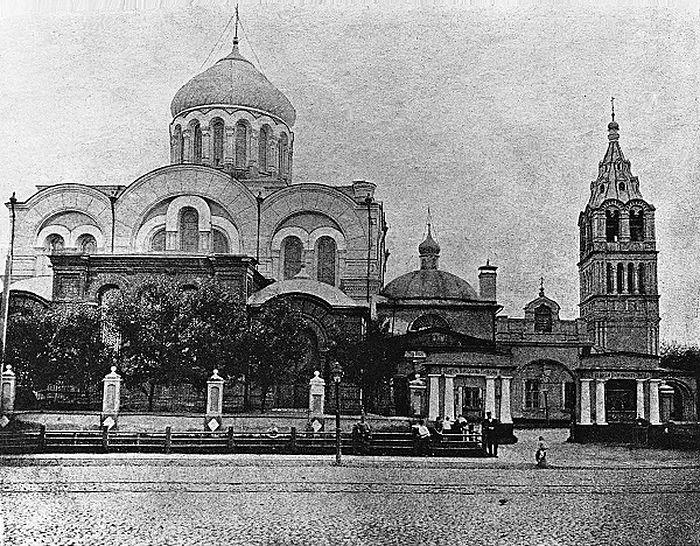 Церковь Богоявления Господня (1880-е годы). Вид храма с севера, со стороны Б. Дорогомиловской улицы