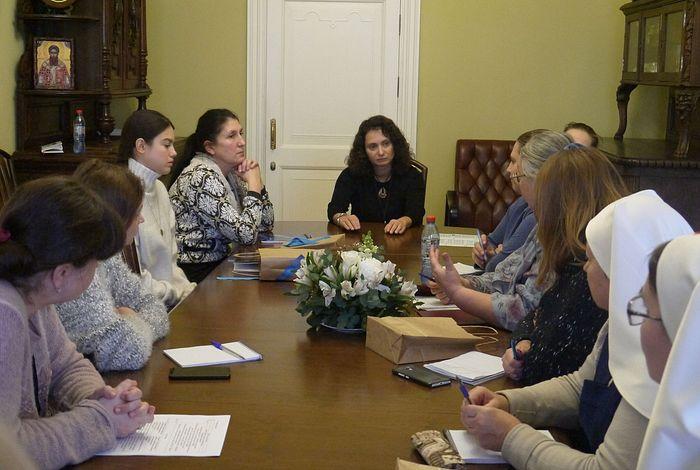 Доклад руководителя направления помощи семьям Синодального отдела по благотворительности Екатерины Брисенковой