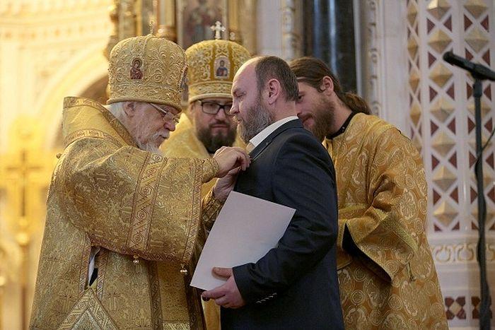Награждение победителя премии имени Надежды Монетовой Андрея Якунина