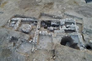 Общий вид раскопок древней мыловарни в Рахате.